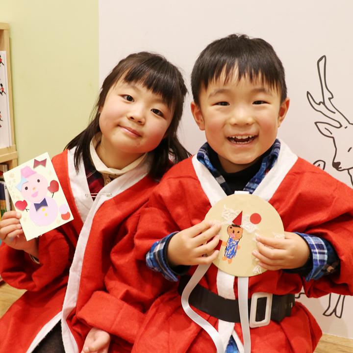 子ども思いの森 ワークショップ スノーマンフェス2016 ポストカード&メダル
